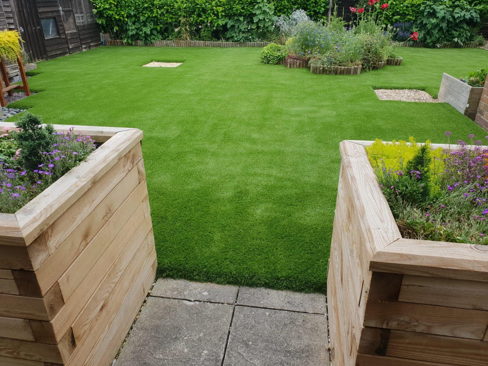 Artificial Grass Installation project using Mayfair astroturf.
